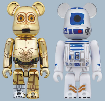Star Wars Droids 100% Be@rbrick Set by Medicom - C-3PO & R2-D2