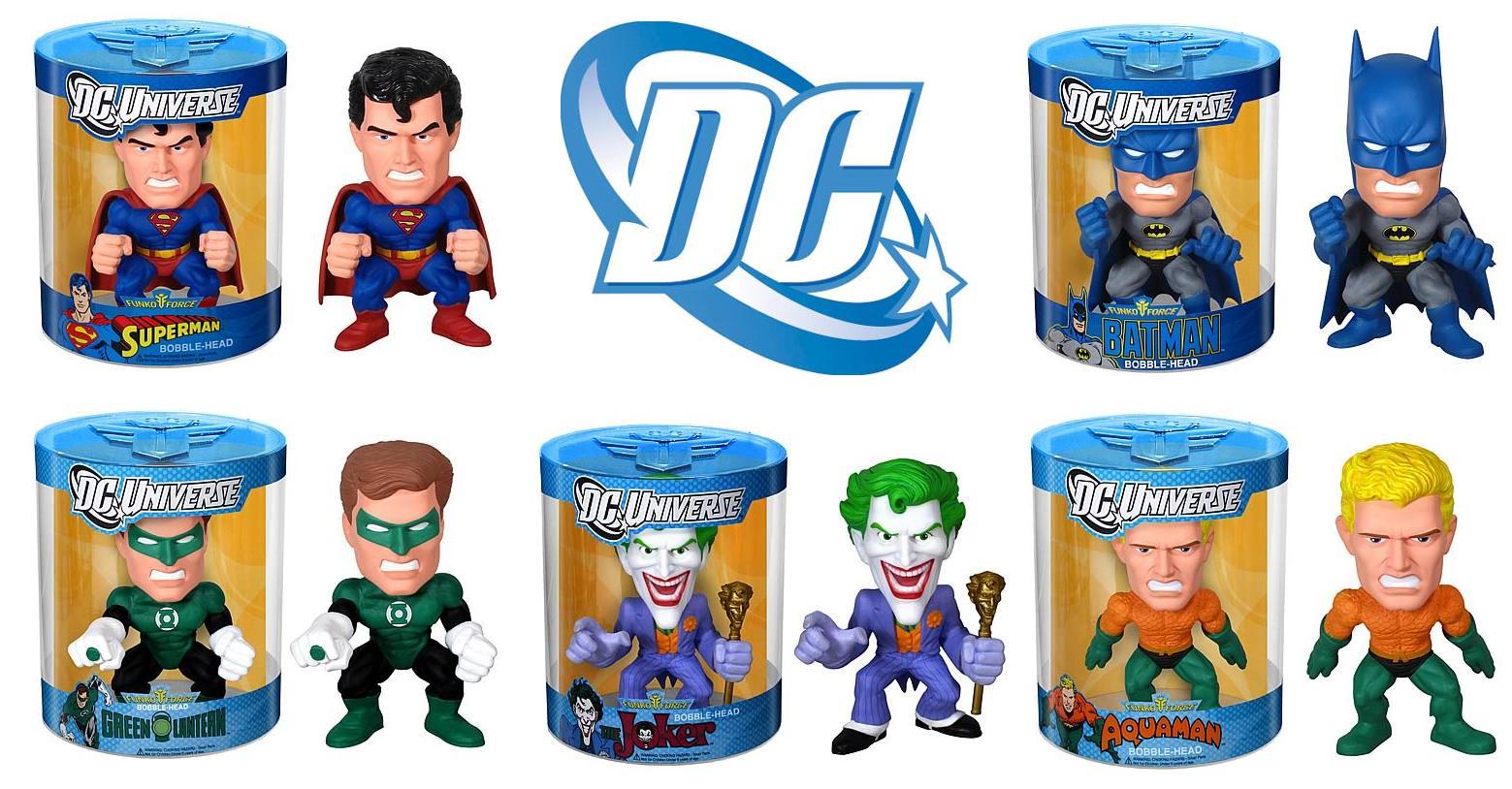 The Blot Says Dc Universe Funko Force Bobble Heads Series 1 Bott Pop Bvs Aquaman Blue Ie Superman Batman Green Lantern