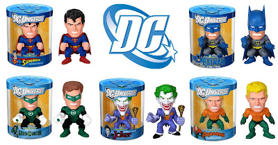 DC Universe Funko Force Bobble Heads Series 1 - Superman, Batman, Green Lantern, The Joker & Aquaman
