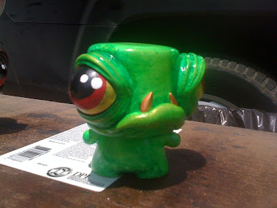 Tenacious Toys Marshall Blind Box Custom Series - Chase BP Green Oil Monger Marshall by Den Ramos