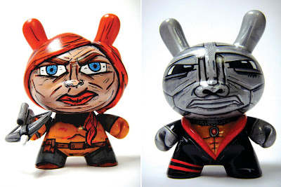Custom G.I. Joe 3 Inch Dunny Set by Nikejerk - Scarlett and Destro