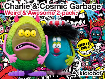 Kidrobot - Charlie & Cosmic Garbage Weird & Awesome 2 Pack by Shelterbank