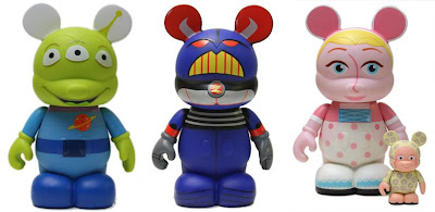 Disney Vinylmation Toy Story 9 Inch Figures - Alien, Emperor Zurg & Bo Peep with 3 inch Sheep
