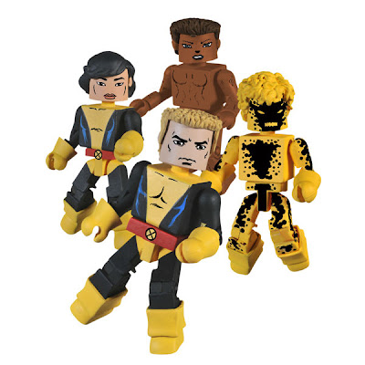 New York Comic-Con 2010 Exclusive New Mutants Minimates Box Set - Cannonball, Susnpot, Wolfsbane & Karma