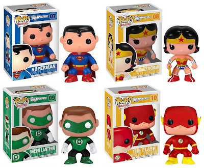 Pop! Heroes DC Universe Wave 2 Vinyl Figures by Funko - Superman, Wonder Woman, Green Lantern & The Flash
