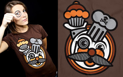 Johnny Cupcakes - Monocle T-shirt