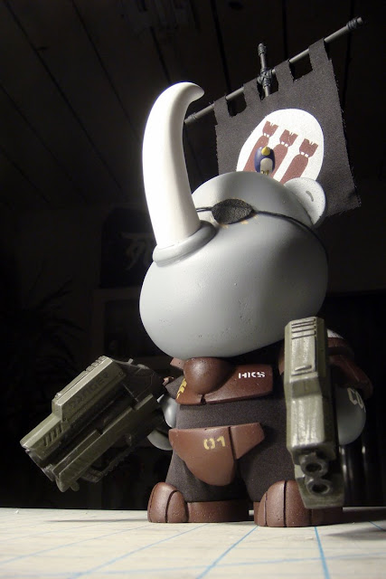 Custom SGT Hicks Vinyl Figure by Huck Gee