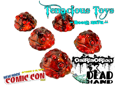 New York Comic-Con 2010 Exclusive OsiRisORion x Dead Hand Toys Custom Molten Lava Gread Resin Figures