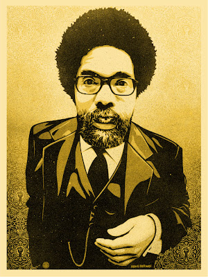 Obey Giant - &#8220;Cornel West&#8221; Screen Print by Shepard Fairey and Glen E. Friedman