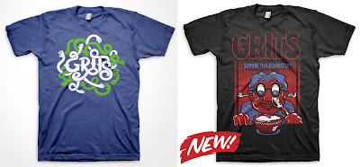 Grits - Get Hands On! & Servin Tha Goodstuff T-Shirts