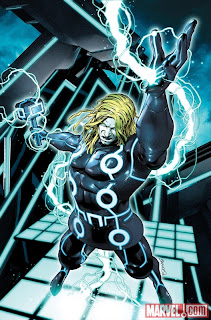 Marvel Comics - Thor #617 TRON Legacy Variant Cover featuring Thor by Brandon Peterson