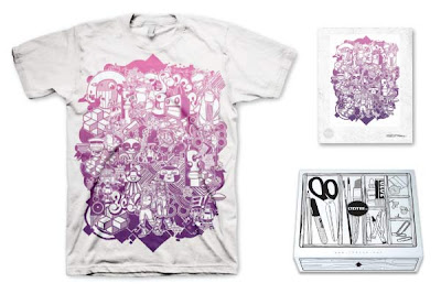 LTD Tee - Monster Mashup T-Shirt & Art Print Box Set by JVDK & Be Happy!