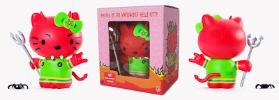Kidrobot x Sanrio Empress of the Underworld Hello Kitty Vinyl Figure and Packaging by Frank Kozik