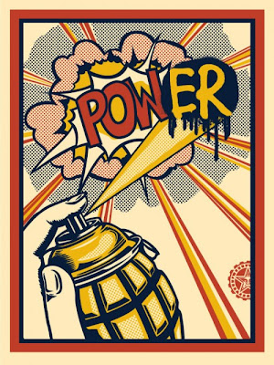 Obey Giant POW(ER) Screen Print by Shepard Fairey
