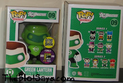 San Diego Comic-Con 2010 Exclusive Glow in the Dark Green Lantern DC Universe Pop! Heroes Vinyl Figure