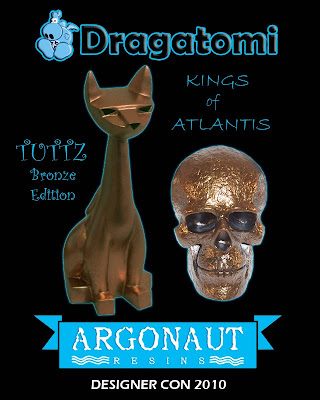 Dragatomi x Argonaut Resins Designer Con Exclusive Bronze Tuttz Resin Figures