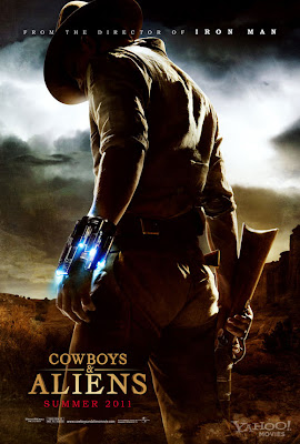 Cowboys &amp; Aliens Teaser One Sheet Movie Poster - Daniel Craig as Jake Lonergan