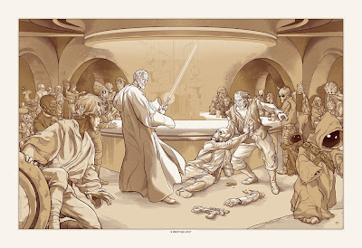 Mondo Star Wars Screen Print Series #13 - A Wretched Hive Standard Copper Edition by Martin Ansin
