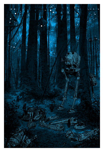 Mondo Star Wars Screen Print Series #16 - Sanctuary Moon by Daniel Danger