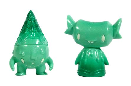 Mint Green Pearl Milton and Fenton Vinyl Figures by Super7