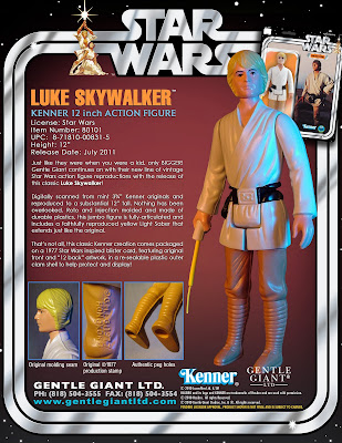 "Luke Skywalker 12"" Jumbo Vintage Kenner Star Wars Action Figure by Gentle Giant"