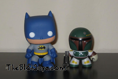 Mini Mighty Muggs vs Pop! Heroes DC Universe - Batman &amp; Boba Fett