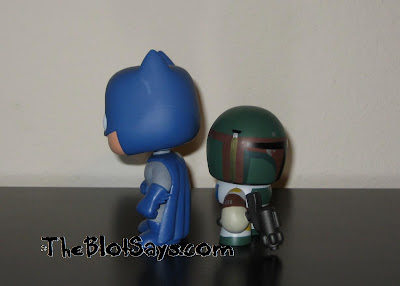 Mini Mighty Muggs vs Pop! Heroes DC Universe - Batman & Boba Fett