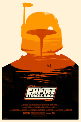 Mondo Star Wars Screen Print Series #18 - The Original Star Wars Trilogy Set by Olly Moss - The Empire Strikes Back