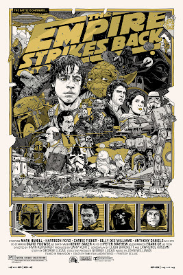 Mondo Star Wars Screen Print Series #20 - The Original Star Wars Trilogy Set by Tyler Stout - The Empire Strikes Back Variant