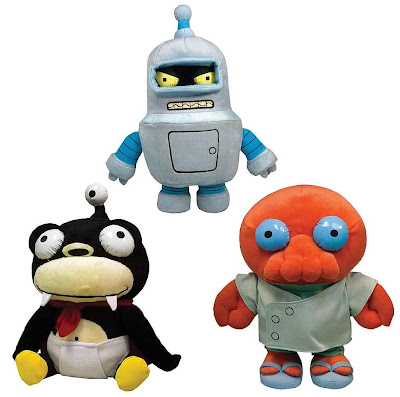 Futurama Plush Figures Series 1 by Toynami - Bender, Nibbler &amp; Dr. Zoidberg