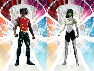 Brightest Day Series 3 Action Figures by DC Direct - Aqualad and Jade