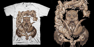 LTD Tee - Shapeshifter T-Shirt & Art Print Box Set by Thomas Kraky