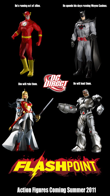 First Look: Flashpoint Wave 1 Action Figures by DC Direct - The Flash, Batman, Wonder Woman &amp; Cyborg
