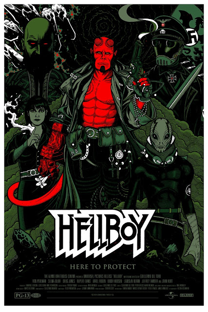 Mondo Tees - Hellboy Screen Print by Florian Bertmer