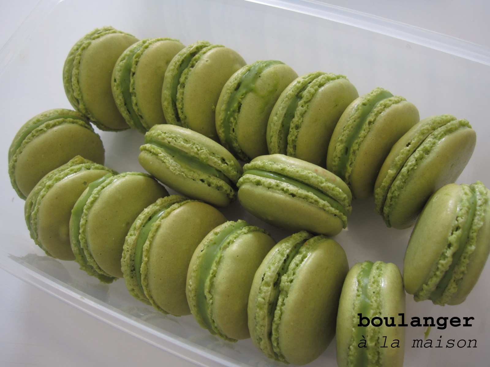 Green Tea Macarons Recipe — Dishmaps