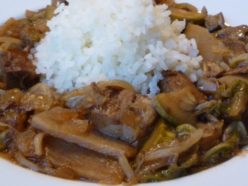 Leftover roast pork  cut into approx 1-inch cubesRoast Pork Chop Suey