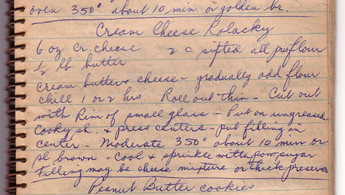 Cookistry: From an Old Notebook: Cream Cheese Kolacky