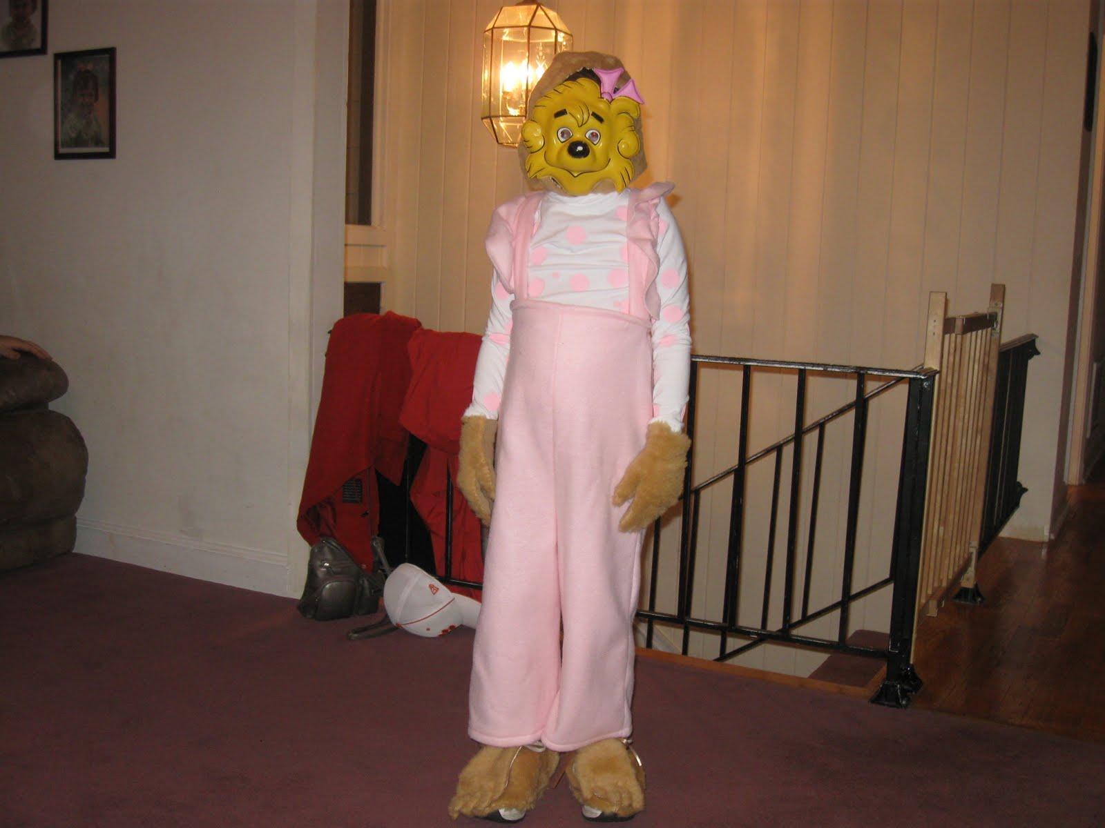 Here is Sister Bear from the Berenstain Bears. We are crazy about the Berenstain Bears at our house! Maddy found this mask at a Halloween shop back in the ... & Life With A Bugg!: Halloween 2010