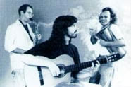 From left to right: David Ganc, Nando Carneiro, and Mingo Araújo