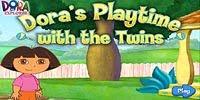 Даша путешественница играет с близнецами | Dora's Playtime with the Twins
