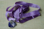 Swarovski Violet Crystal Heart and Sterling silver Pendant holder and Bail