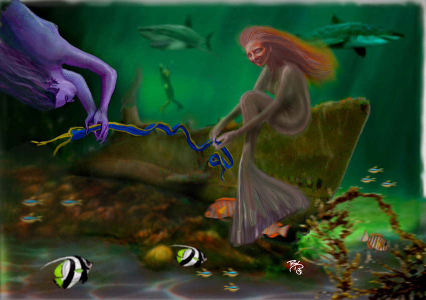 Mid Pacific Musings Of Artist Ron Pitts Digital Artwork