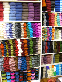 A wall of yarn