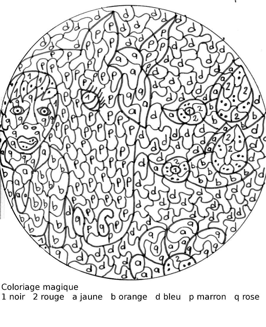 Maternelle coloriage magique la dame et le cheval - Mandala de chevaux ...
