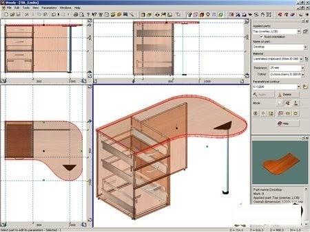 D i buena onda dise a muebles de madera en 3d for Programa para disenar muebles de madera