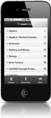 iPhone Application Khan Academy