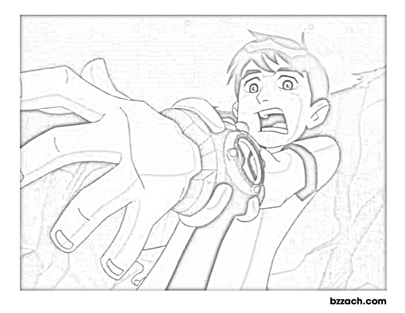 Ben 10 printable coloring pages title=