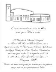 Convite - Dedicação da Igreja Matriz Nossa Senhora Auxiliadora de Paraguaçu