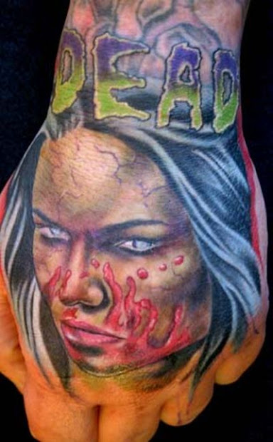 beautiful wallpapers zombie tattoos