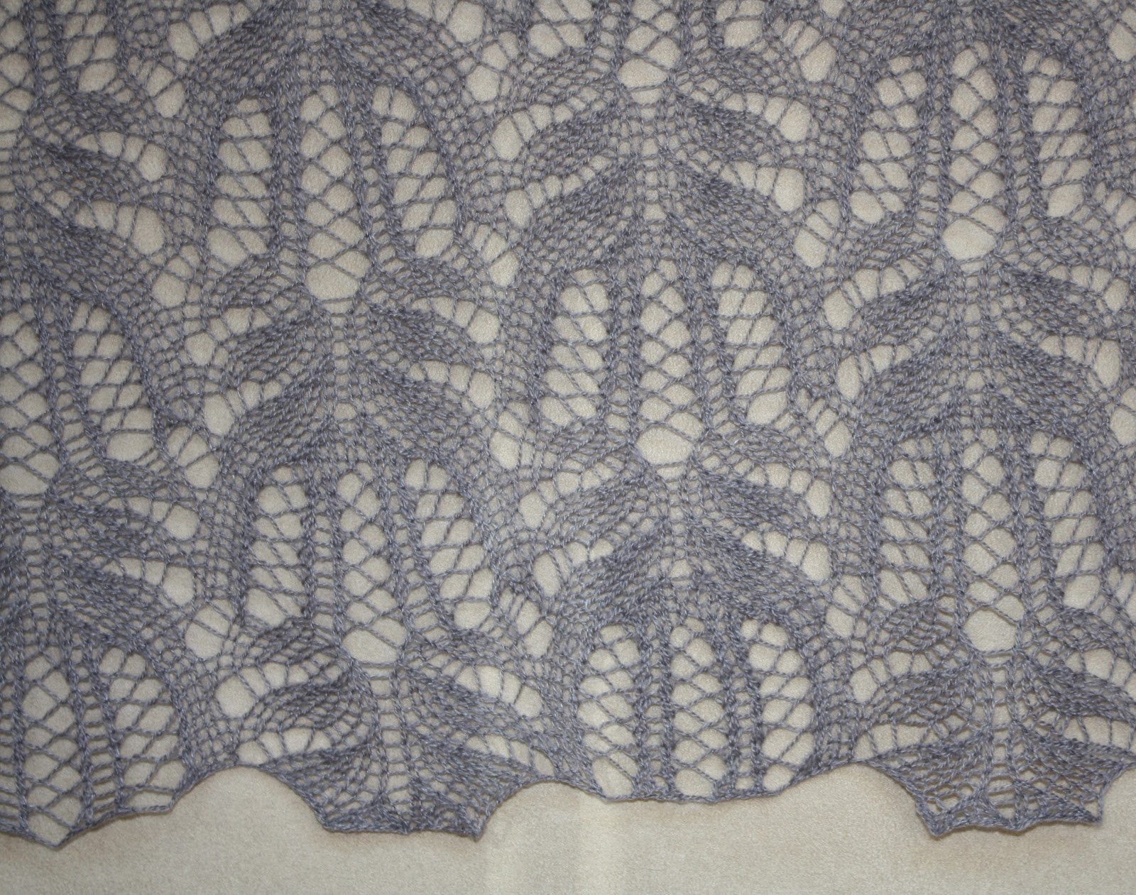 Knitted Lace Pattern : All Knitted Lace: Frost Flowers Lace Pattern